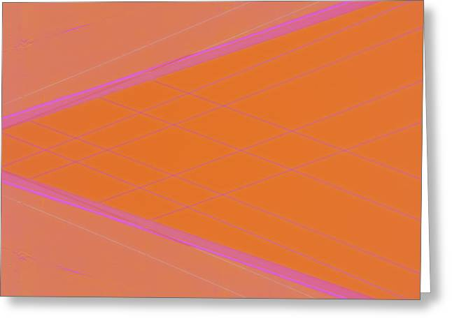 Abstractions Greeting Cards - Abstraction in Pink Number 4 Greeting Card by Carol Leigh