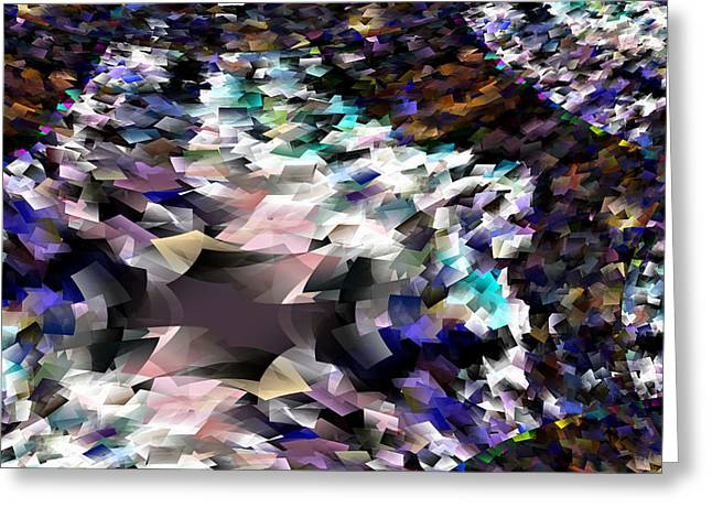 Abstract Digital Photographs Greeting Cards - Abstraction Greeting Card by Jeff  Swan