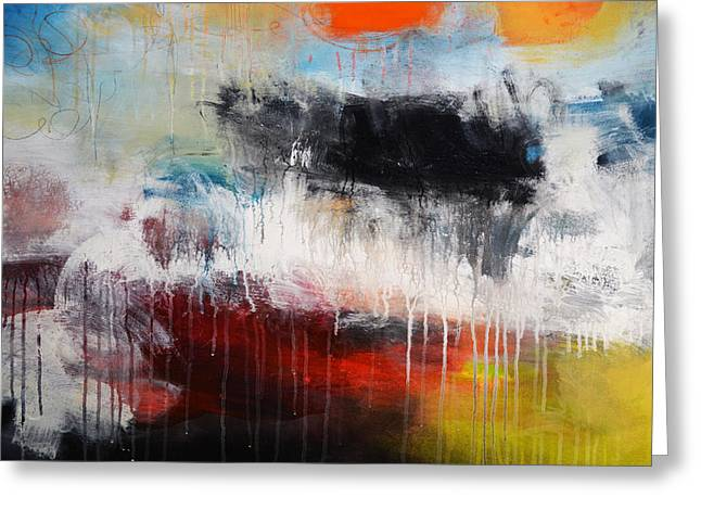 Abstract Greeting Cards - Abstraction XII Greeting Card by Andrada Anghel