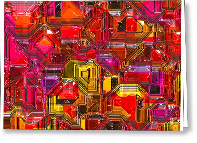 Tron Greeting Cards - Abstractions... Greeting Card by Tim Fillingim
