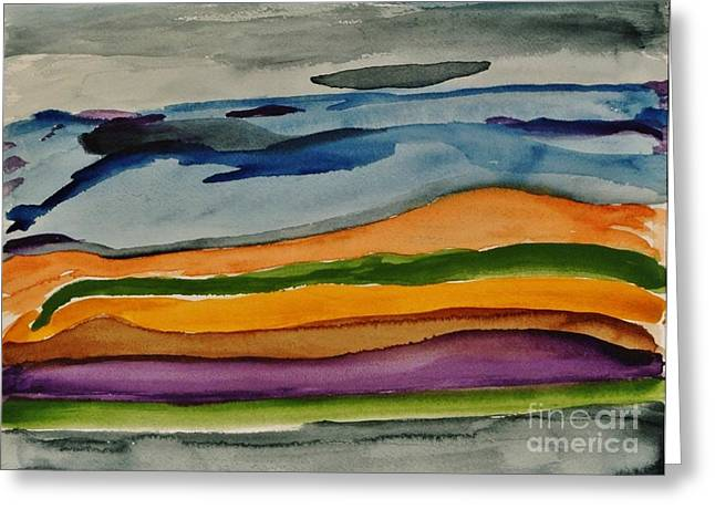 Abstractscape Greeting Card by Marsha Heiken