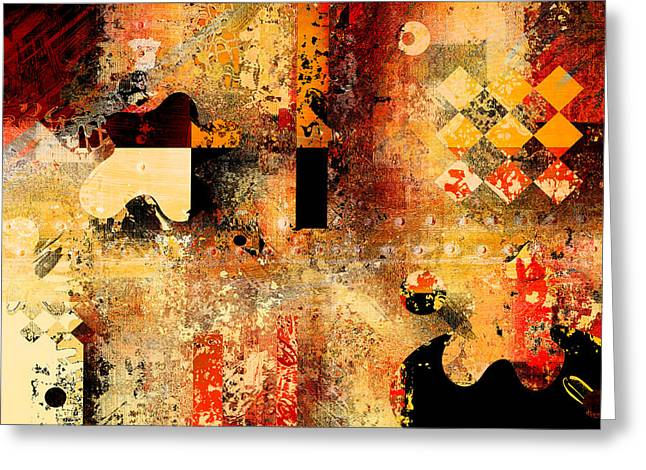 Geometric Art Greeting Cards - Abstracture - 103106046f Greeting Card by Variance Collections
