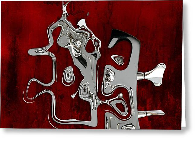 Abstrait En Fa Majeur - S02t01 Greeting Card by Variance Collections