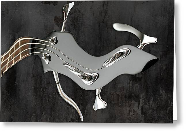 Guitare Greeting Cards - Abstrait en La Mineur - s01t01 Greeting Card by Variance Collections