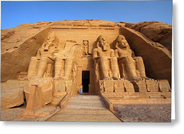 Ancient Ruins Greeting Cards - Abu Simbel Greeting Card by Dan Breckwoldt