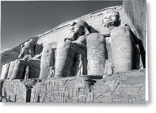 Pharaoh Greeting Cards - Abu Simbel - Monument to a Pharaoh Greeting Card by Mark E Tisdale