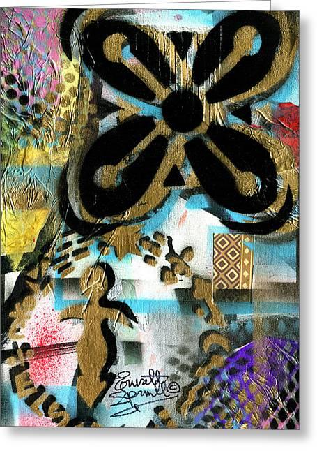 Romare Bearden Greeting Cards - Abundance Greeting Card by Everett Spruill