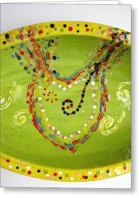 Stream Ceramics Greeting Cards - Abundance heart stream Greeting Card by Heidi Sieber