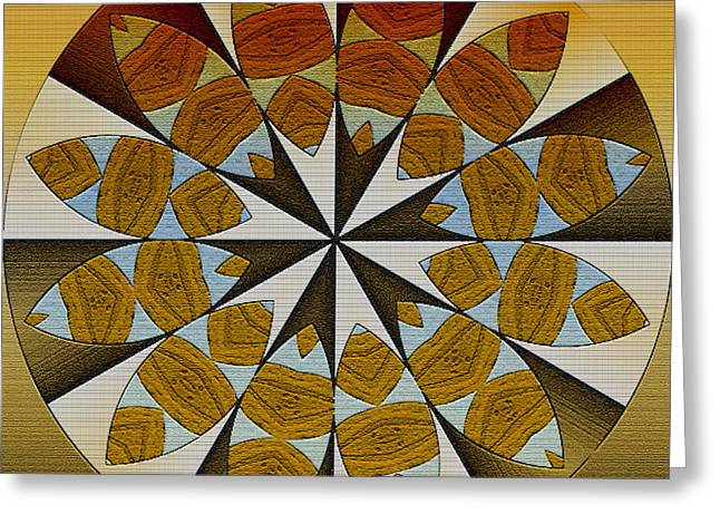 Interior Still Life Greeting Cards - Abundance Mandala Greeting Card by Kandy Hurley