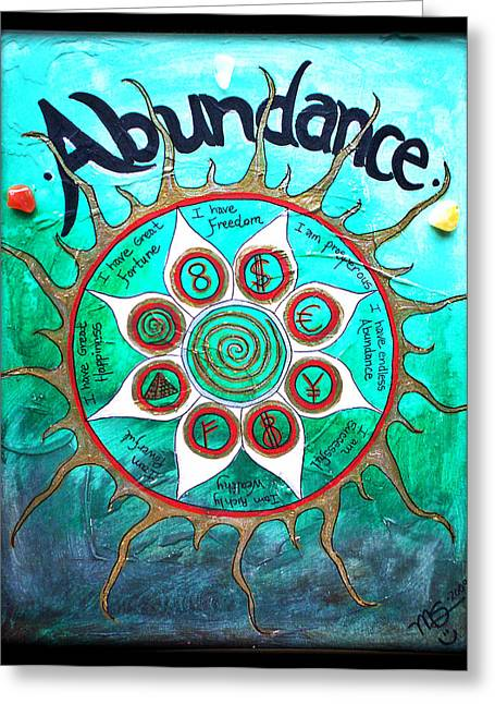 Attract Wealth Greeting Cards - Abundance Money Magnet - Healing Art Greeting Card by Absinthe Art By Michelle LeAnn Scott