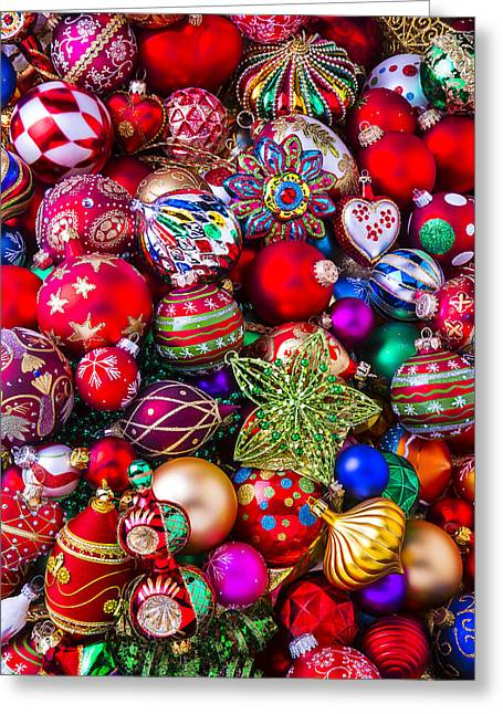 Abundance Greeting Cards - Abundance Of Christmas Ornaments  Greeting Card by Garry Gay