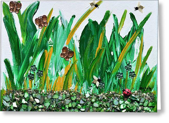 Field Rocks Greeting Cards - Abundance Of Spring Greeting Card by Donna Blackhall