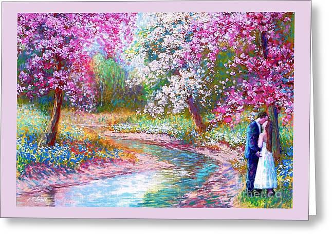 Abundant Love Greeting Card by Jane Small