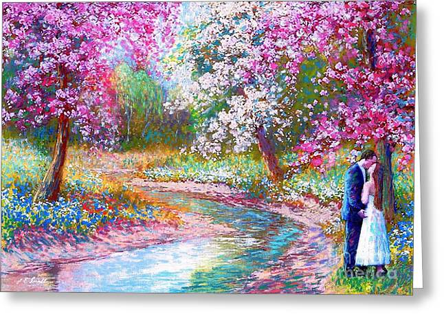 Wild Orchards Paintings Greeting Cards - Abundant Love Greeting Card by Jane Small