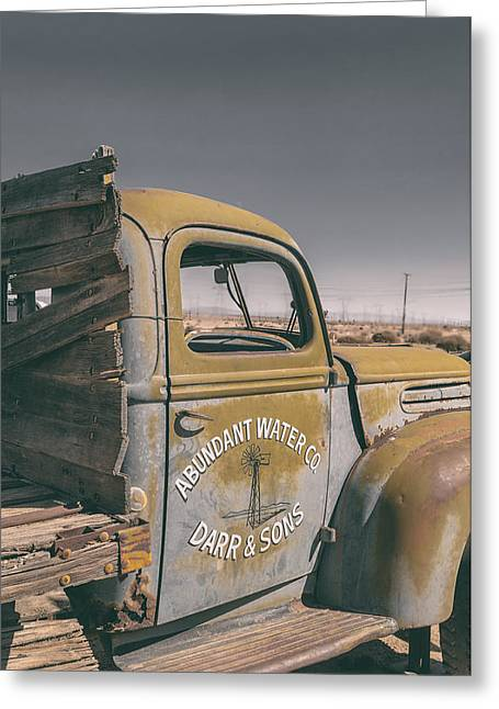 Old Truck Greeting Cards - Abundant Water Greeting Card by Joseph Smith