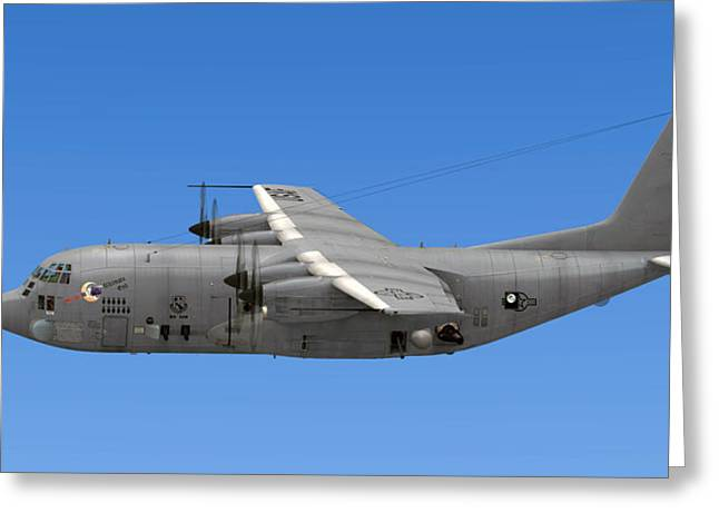 Ac-130 Greeting Cards - AC-130 Gunship Spectre Greeting Card by Walter Colvin