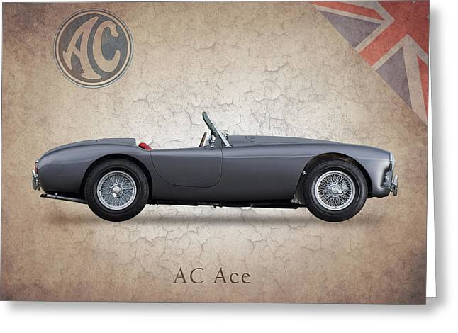 Cobra Poster Greeting Cards - AC Ace 1951 Greeting Card by Mark Rogan