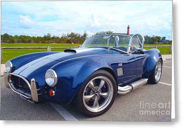 Custom Ford Greeting Cards - AC Cobra Greeting Card by Carey Chen