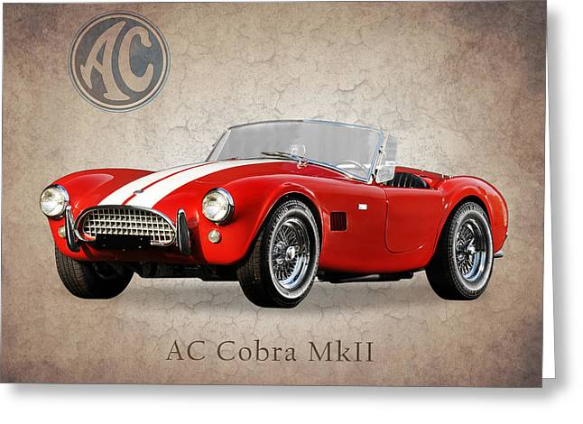 Ac Greeting Cards - AC Cobra MK2 1963 Greeting Card by Mark Rogan