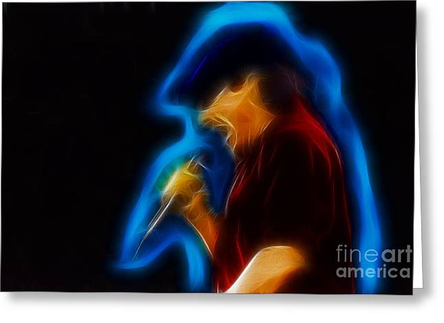 Malcolm Young Greeting Cards - AC-DC-Brian-95-A6-Fractal Greeting Card by Gary Gingrich Galleries