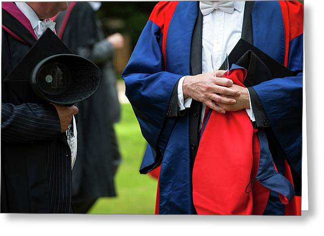 Academic Dress Greeting Card by John Cairns Photography/oxford University Images