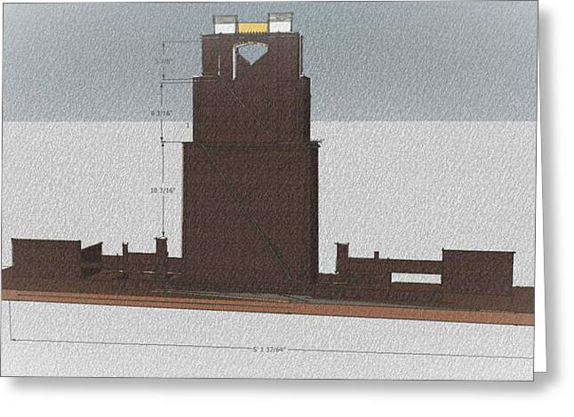 Model Sculptures Greeting Cards - Academic tower Greeting Card by Mark Van Norman