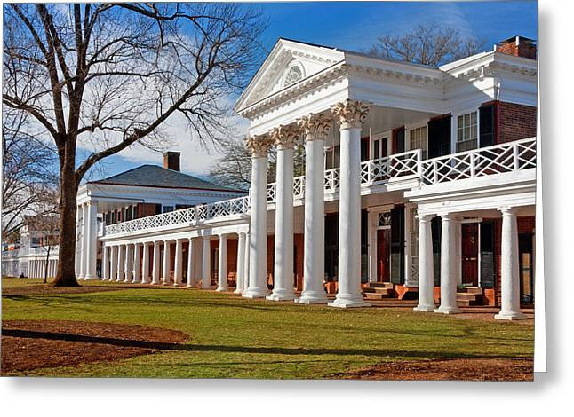 Student Housing Greeting Cards - Academical Village at the University of Virginia Greeting Card by Melinda Fawver