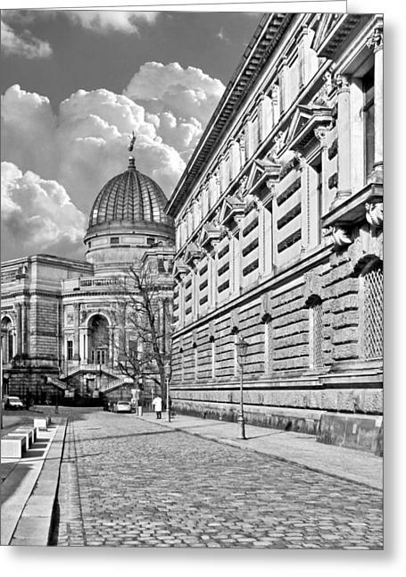 College Greeting Cards - Academy of Arts Dresden Greeting Card by Christine Till