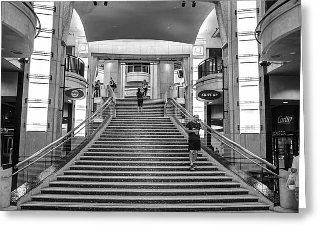 Academy Awards Oscars Greeting Cards - Academy Steps Greeting Card by Ricky Barnard