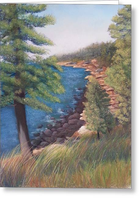 Maine Shore Pastels Greeting Cards - Acadia Morning Greeting Card by Carol Corliss
