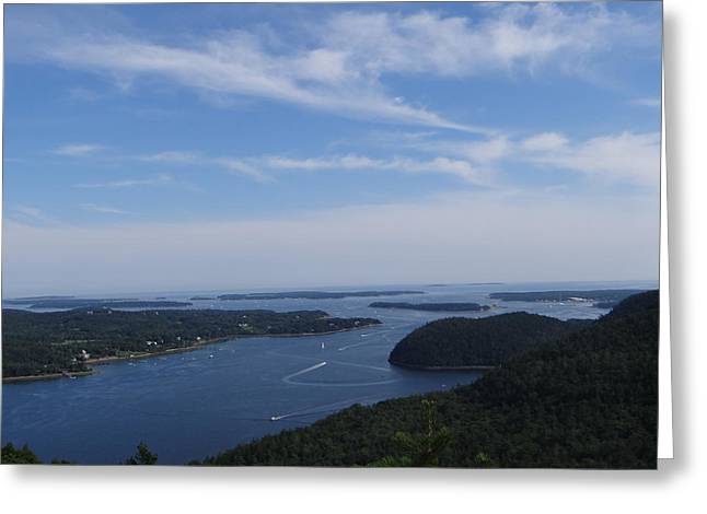 Somes Sound Greeting Cards - Acadia Mountain View Greeting Card by Jessica Fialkovich