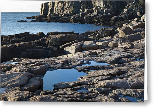 Maine Shore Greeting Cards - Acadia National Park Greeting Card by John Shaw