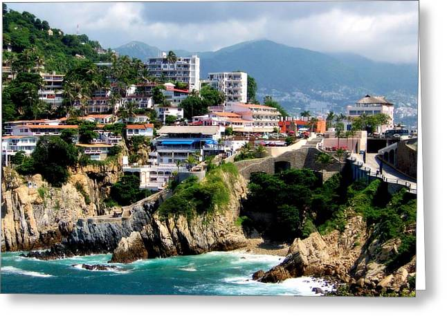 Cantina Greeting Cards - Acapulco Greeting Card by Karen Wiles
