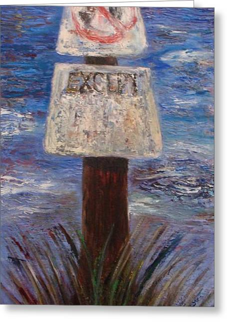 Pallet Knife Greeting Cards - Accept Exceptions Greeting Card by Jamie Howes