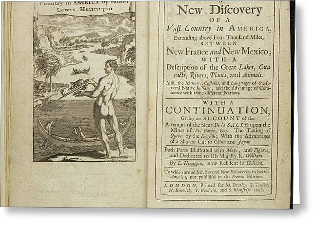 Account Of Discovery In America Greeting Card by British Library