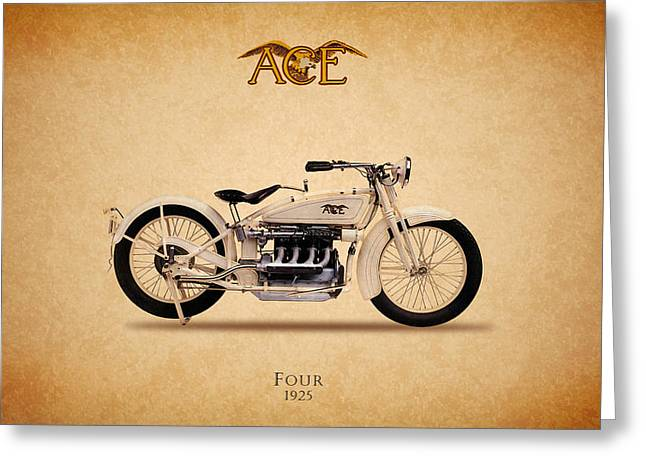 Four Aces Greeting Cards - Ace Four 1925 Greeting Card by Mark Rogan