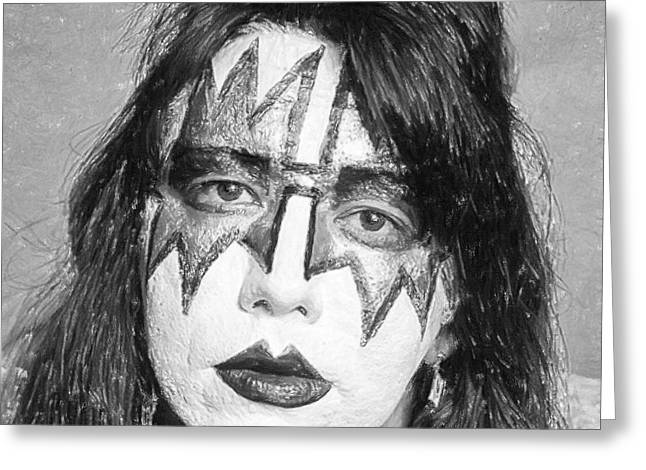 Cathedral Rock Greeting Cards - Ace Frehley Greeting Card by Antony McAulay