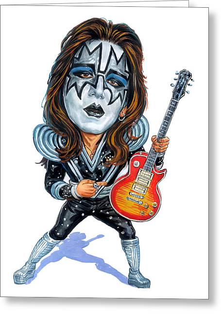 Cave Greeting Cards - Ace Frehley Greeting Card by Art