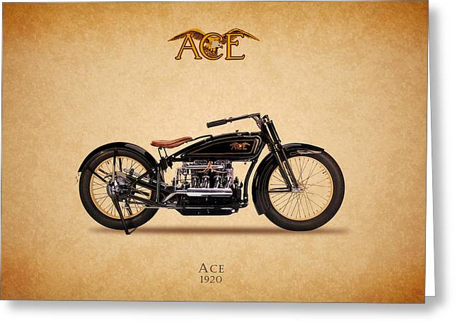 Acer Greeting Cards - Ace Motorcycle 1920 Greeting Card by Mark Rogan
