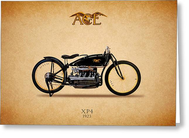 Acer Greeting Cards - Ace XP4 Motorcycle 1923 Greeting Card by Mark Rogan