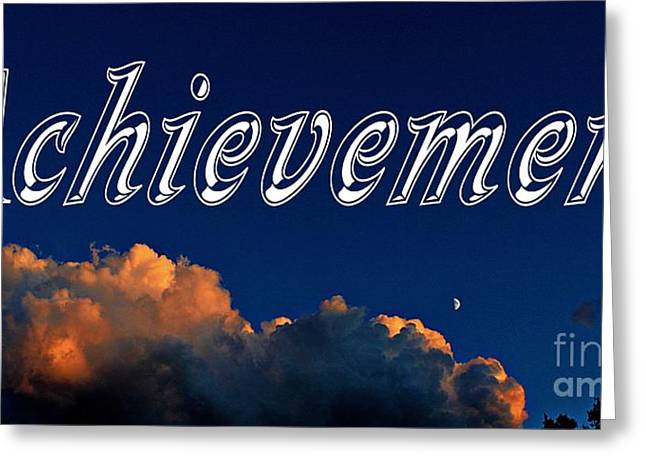 Good Deeds Greeting Cards - Achievement Greeting Card by Barbara Griffin