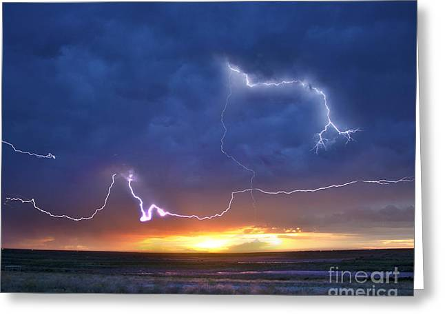 Lightning Photographer Greeting Cards - Achilles Last Stand Greeting Card by Ryan Smith