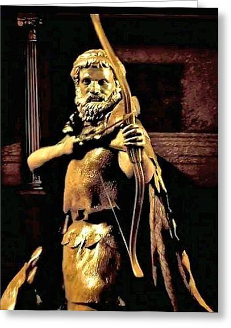 Greek Reliefs Greeting Cards - Achillies Greeting Card by Rondahl Mitchell