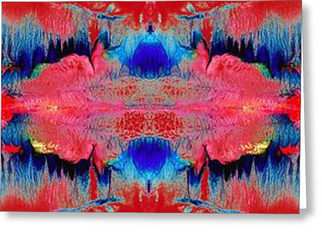 Abstract Digital Mixed Media Greeting Cards - Acidic river Greeting Card by Sumit Mehndiratta
