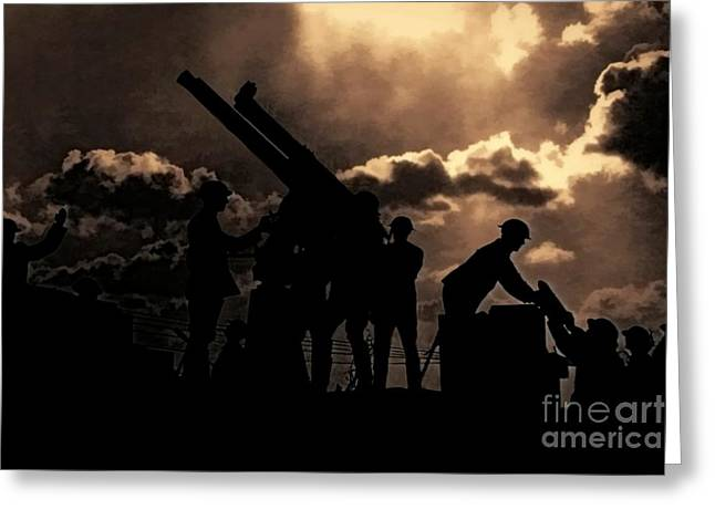 Ypres Greeting Cards - Ack Ack Greeting Card by Jon Burch Photography