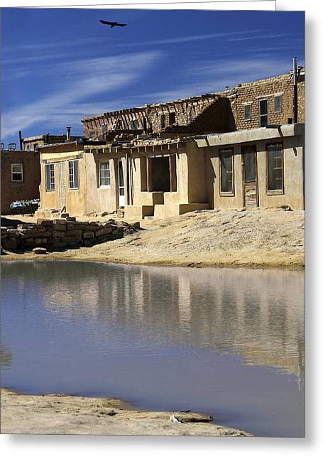 Adobe Digital Greeting Cards - Acoma Pueblo Adobe Homes 2 Greeting Card by Mike McGlothlen
