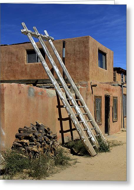 Mexico City Digital Greeting Cards - Acoma Pueblo Adobe Homes 3 Greeting Card by Mike McGlothlen