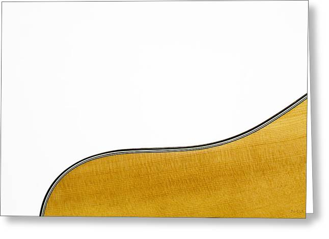 Acoustic Curve Greeting Card by Bob Orsillo