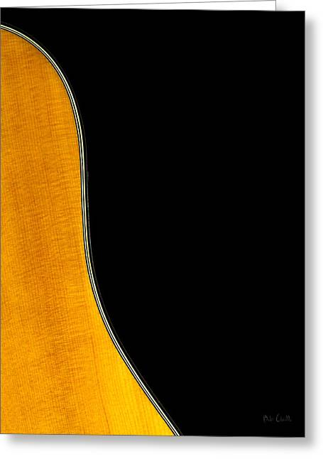 Acoustic Curve In Black Greeting Card by Bob Orsillo