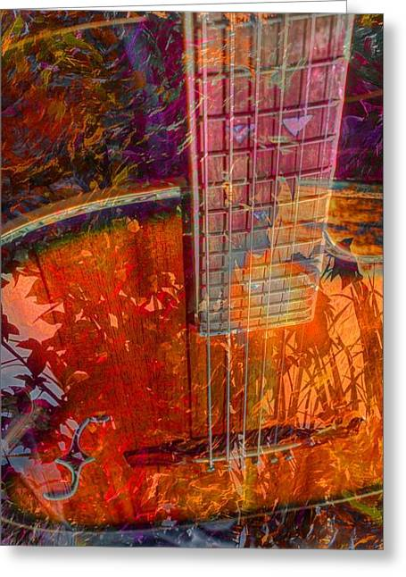 Acoustical Digital Art Greeting Cards - Acoustic Dreams Digital Guitar Art by Steven Langston Greeting Card by Steven Lebron Langston